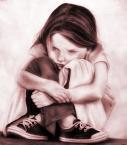 Bruised Sad Child
