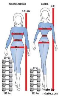 barbie body image graphic